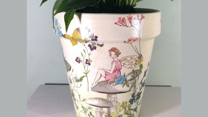 Fairy Painted Plant Pot to Inspire Young Fairy Indoor Gardeners